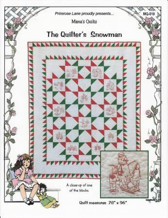 Quilter's Snowman