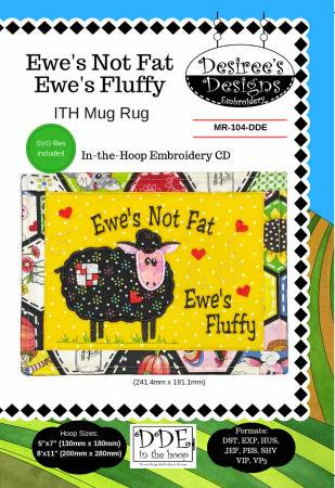 Ewe's Not Fat Ewe's Fluffy Embroidery CD