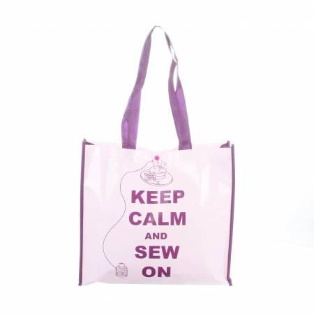 Multi-Purpose Enviro Tote Keep Calm and Sew On - MR4642-10 - MAY BE RESTOCKED UPON REQUEST
