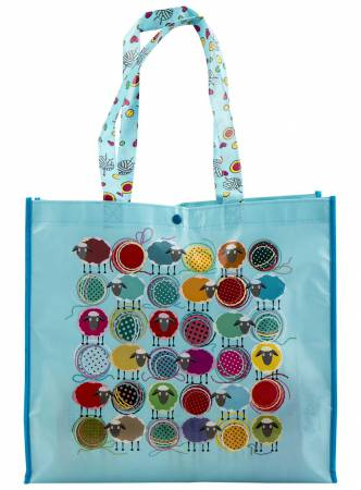 Blue Knitting Sheep Shopping Tote - MR464213