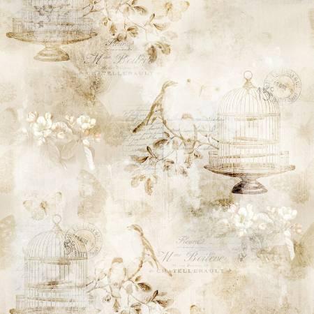 Vintage FH Birdcages Parchment