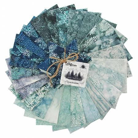 Fabric Precuts - Fat Quarter Into the Mist, 25pcs/bundle