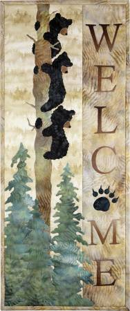 Welcome Bear Inn Wallhaning Quilt Kit  12.5in x 31in