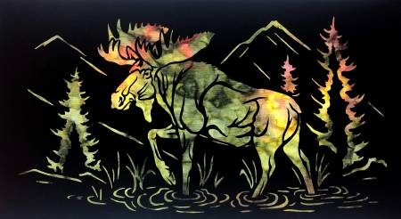 Moose Stroll Laser Sihlouette Wallhanging MS-L-2017