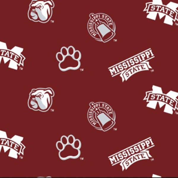 Mississippi State Logo Fabric