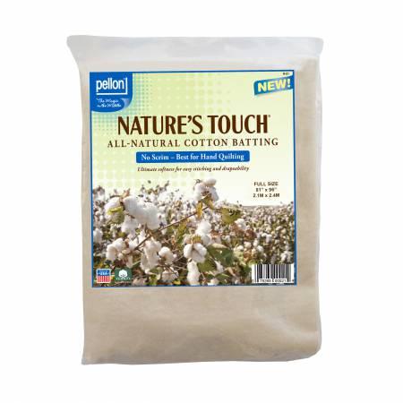 Pellon Nature's Touch 100% Natural Cotton No Scrim 81in x 96in