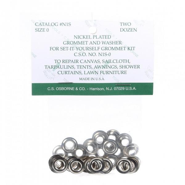 Grommet Refill 24 per bag sz 0 Nickel
