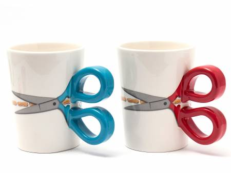 Sewing Scissor Mug - Blue