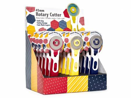 45mm Rotary Cutter 15 Pc Display