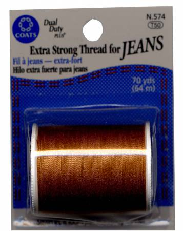 Extra Strong Jeans Cotton/Polyester Thread 70yds Red Orange