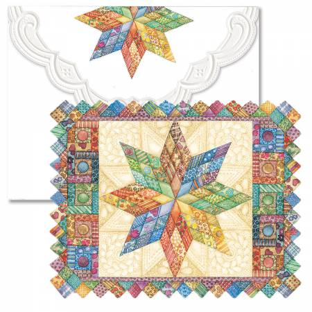 Note Cards Quilted Star