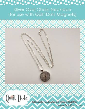 Quilt Dots Oval Chain - Silver