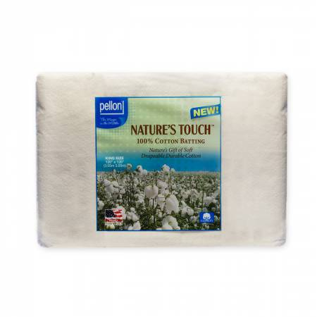 Pellon Natures Touch 100% Natural Cotton Batting  King-Sized 120in x 120in