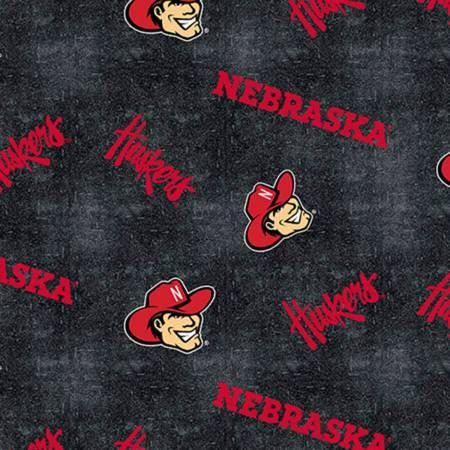University of Nebraska Tossed on Distressed Flannel