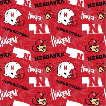 NCAA Nebraska Tone on Tone Cotton