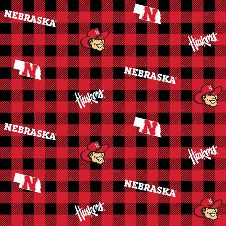 Nebraska Cornhuskers Buffalo Plaid Cotton