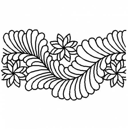 Quilt Stencil Elegant Feather Border
