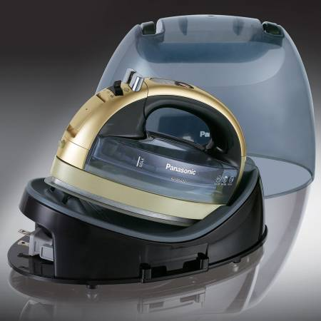 CHAMPANGE GOLD Cordless 360 Freestyle Steam/Dry Iron with Curved Ceramic Soleplate