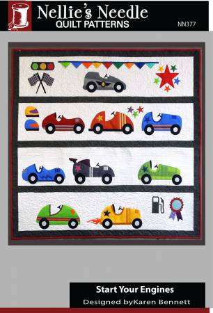 Start Your Engines Quilt Pattern NN 377