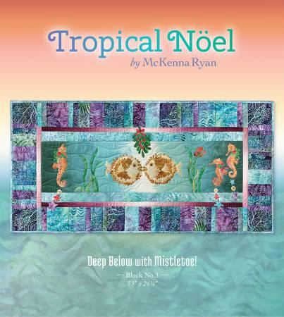 Tropical Noel Deep Below with Mistletoe!