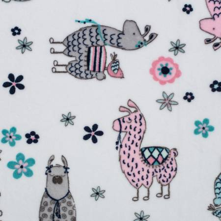 Blush No Prob Llama Cuddle Print 60 wide