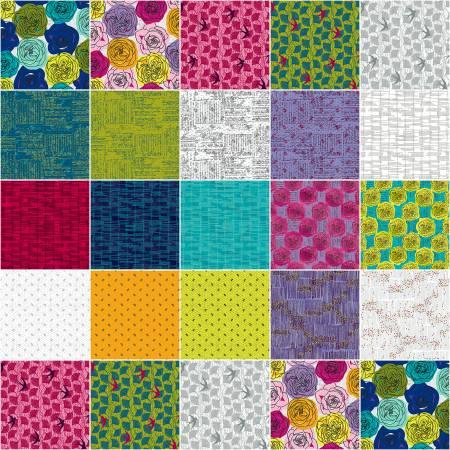 Norma Rose Fat Quarter Bundle designed by Natalie Barnes of Beyond the Reef Patterns, , 20pcs/bundle