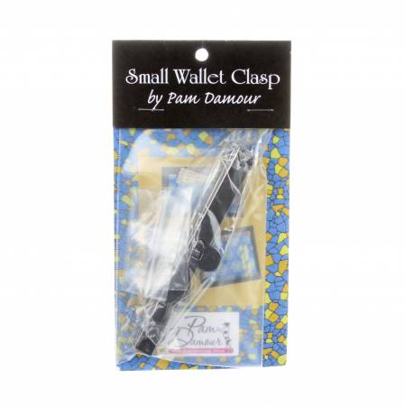 Small Wallet Clasp Frame 4-1/2in Black