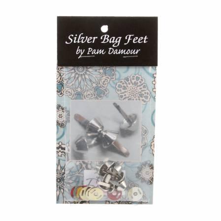 Bag Feet 1/2 Silver 8 per pack