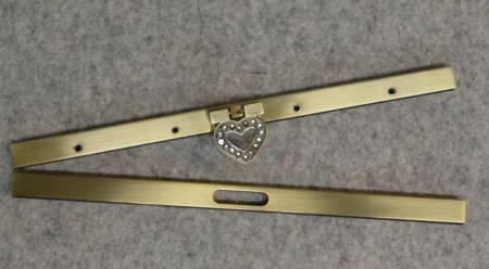 Bronze Heart Wallet Clasp
