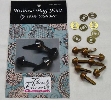 Bronze Bag feet