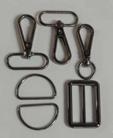 1-1/4in Bag Strap Hardware Black