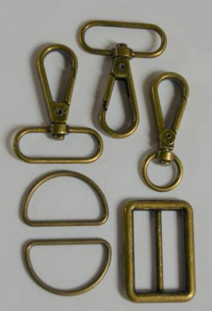 1-1/4in Bag Strap Hardware Bronze
