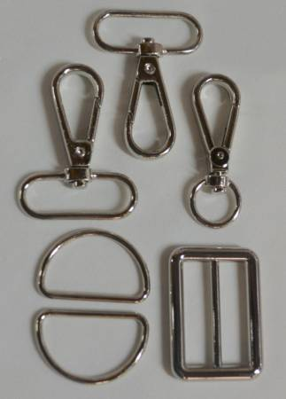 1-1/4in Bag Strap Hardware Silver