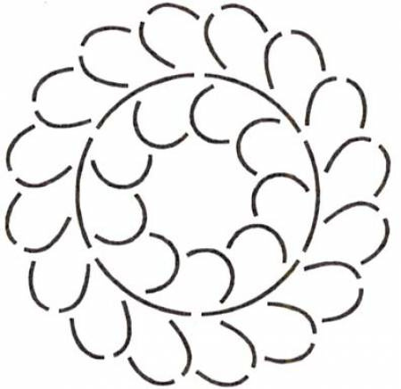 6 Feather Circle Stencil