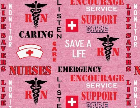 Pink RN/Nurse Save a Life
