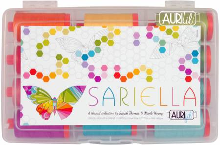 Sariella Collection 50wt 11 Large Spools and 1 Large Clear Monofilament Aurifil