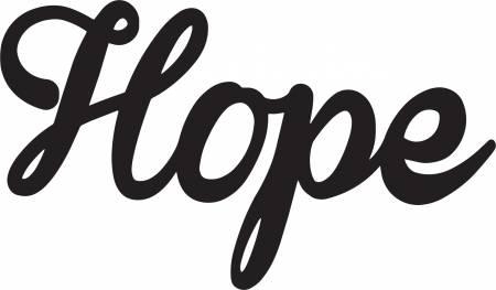Hope Laser Cut - Iron-on