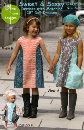 Sweet & Sassy Dress and Matching 18in Doll Dress
