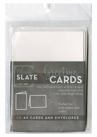 Blank Greeting Cards & Envelopes Size A6 10pk