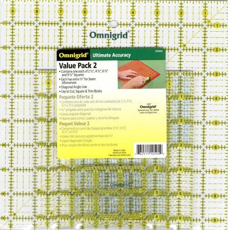 Omnigrid Square Ruler Value Pack 2