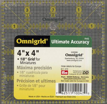 Omnigrid Ruler 4in x 4in With 1/8in Grid