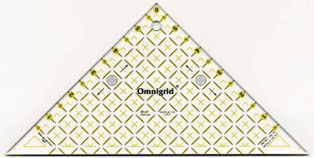 Omnigrid Ruler Right Triangle 45 Degree Up To 6in Square