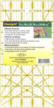 Omnigrid 5in x 10in Ruler - R510