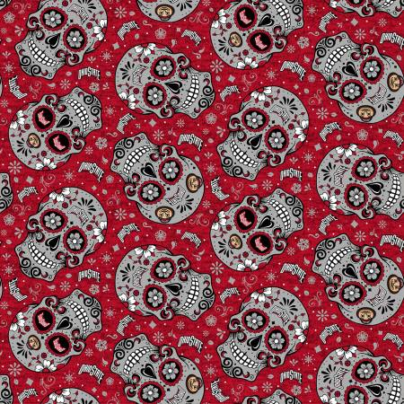 Ohio State University- Sugar Skulls on Red