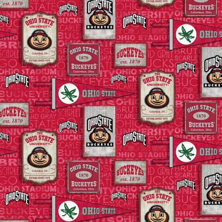 NCAA-Ohio State Buckeyes Vintage Pennant Cotton