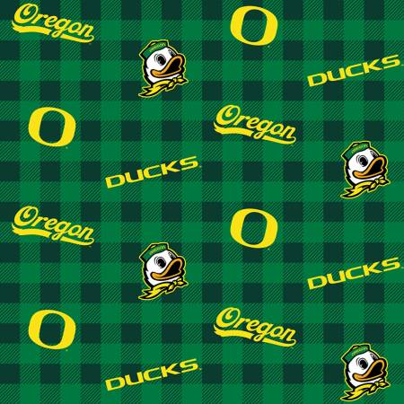 NCAA-Oregon Ducks Buffalo Plaid Cotton