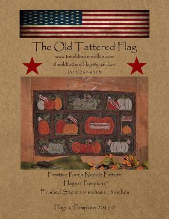 Flags n Pumpkins Punch Needle Pattern