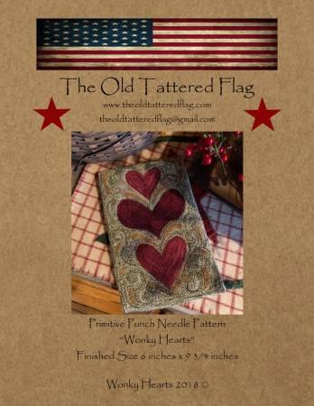 Wonky Hearts Punch Needle Pattern