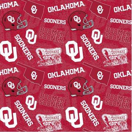 NCAA Oklahoma Tone on Tone Cotton