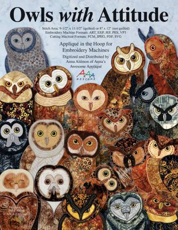Owls with Attitude Machine Embroidery - CD